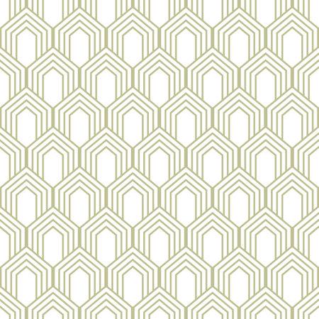 Line seamless pattern in art deco style. Geometric art deco background