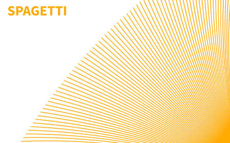 Banner with spaghetti, pasta or noodles. Background with yellow spaghetti
