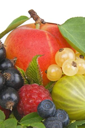 untitled key: Variety of fresh colorful fruits.