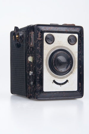 Old camera.On white background. photo
