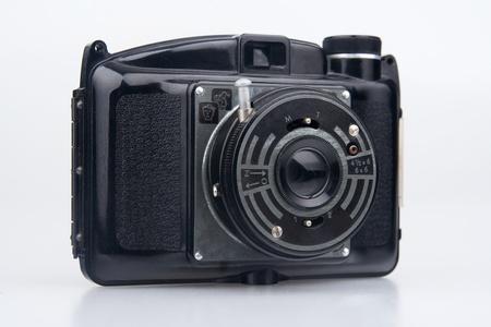 Old  photo camera.On white background. Stock Photo - 11140028