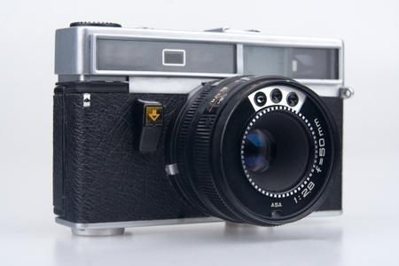 Old camera.On white background. photo