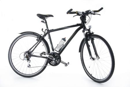 New bulls - eye bicycle on white background. photo