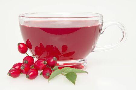 Hip tea, on white background.  photo