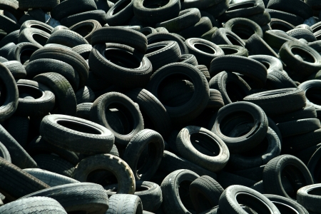 Recycling Rubber Tyres, Background Stock Photo - 20326885