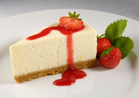 Cheesecake de fresa fresca photo