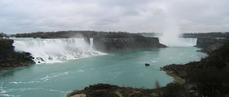 Niagara Falls - The both falls - Panorama