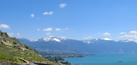 View from the Leman Lake - Switzerland - Panorama. Stock Photo - 778012