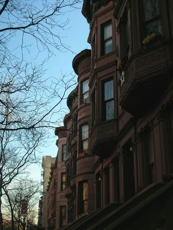 manhattans: Harlem typical house - Vertical picture - New York.