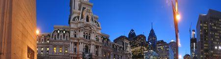 City Hall and high towers - Philadelphia - Panorama. photo
