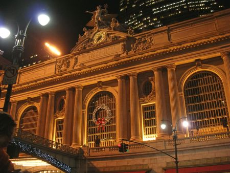 Grand Central Terminal by night - Rail station - New York.