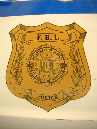 FBI sign on a car door - Washington. Stock Photo