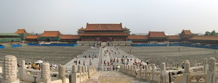 View from the Imperial Great Main Place - Forbidden city - Beijing - China - Panorama.