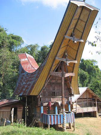 sulawesi: A traditional Toraja house - Rantepao - Sulawesi island - Indonesia.