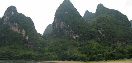 steely: Detail of the jungle mountains of the Li Jiang river - Guilin - China - Panorama.
