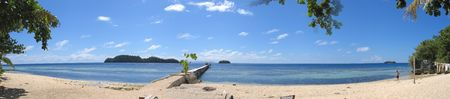 steely: Beach of pulau Kadidiri - Togians island - Sulawesi - Indonesia - Large Panorama.