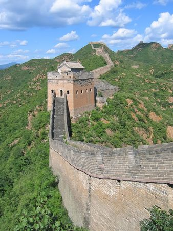 On the Great Wall of China - China. photo