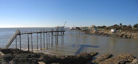 plaice: Plaice for fishing in the sea - Saint-Palais-sur-Mer - France - Panorama.