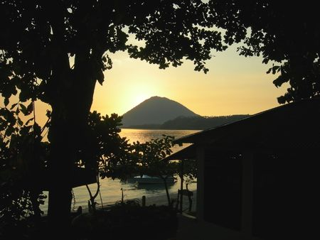 Sunset on the Bunaken island - Manado - Sulawesi - Indonesia.