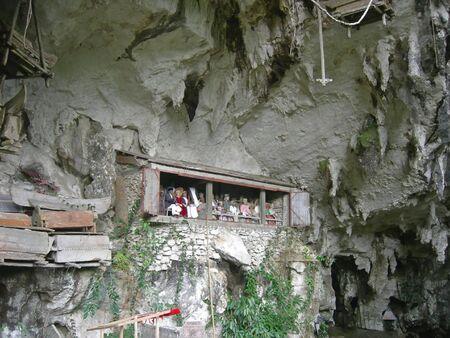 sulawesi: Toraja cemetary - Rantepao - Sulawesi island - Indonesia. Stock Photo