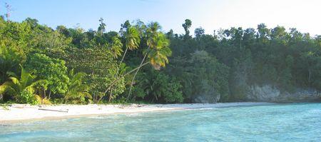 Tropical beach with blue sea - Togians island - Sulawesi - Indonesia - Panorama.