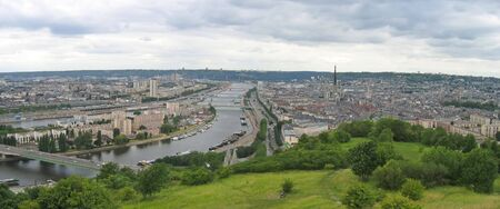Large view on the city - Rouen - France - Panorama.