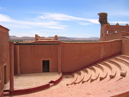 Outside old theater hall - Taourirt Kasbah - Ouarzazate - Morocco.