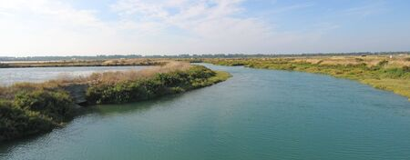re: River in provencal vegetation - Re island - France - Panorama.