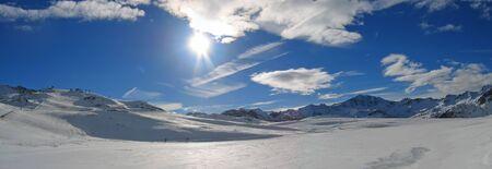 station ski: Ski station of Tignes - The french Alps - France.