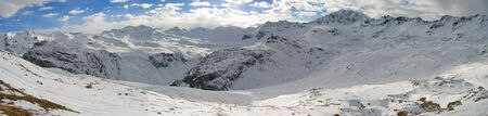 ranges: Snowed mountain ranges - The french Alps - France.