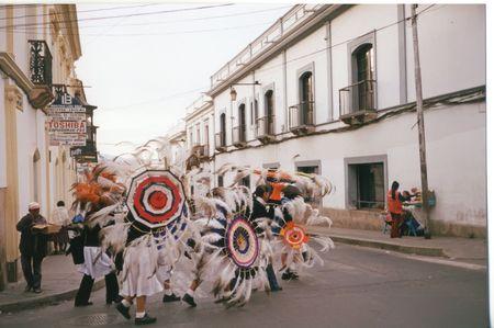 Bolivian festival with women - Sucre - Bolivia.