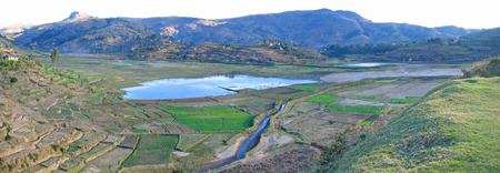 Countryside panorama - Antsirabe - Madagascar - Panoramique. Stock Photo