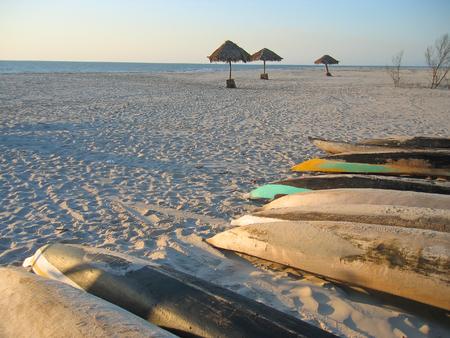 Fisher man boats on the beach - Kimony beach - Morondava.