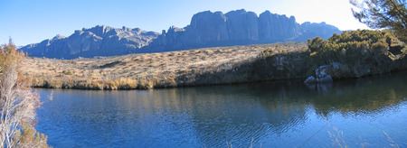 full height: High altitude lake - Andringitra park - Madagascar - Panoramique.