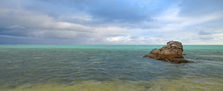 steely: Many blue colors in the sea - Nosy Boraha - Sainte-Marie island - Madagascar - Panoramique.