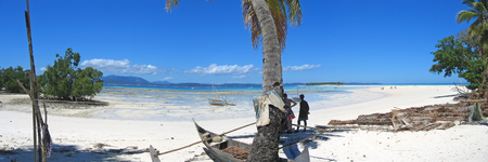 steely: The beautiful beach of Nosy Iranja - Nosy Be island - Panoramique - Madagascar.