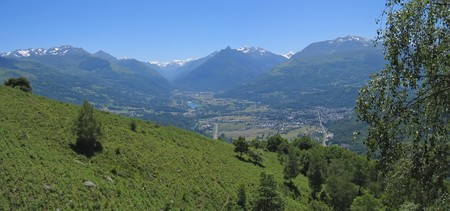 View on the mountains from the Bibeste peak  - France - The Pyrenees - Panorama. photo