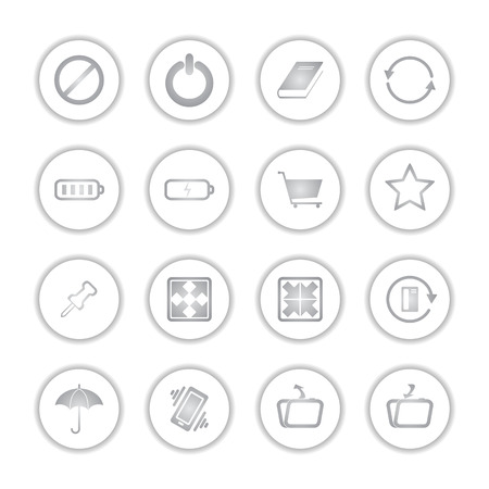 media buttons: Modern social media buttons with soft shadow style