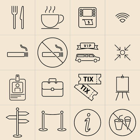 ribbin: Exhibition Line Icons Set-02