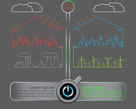 powerhouse: Save the world with wind energy concept infographics