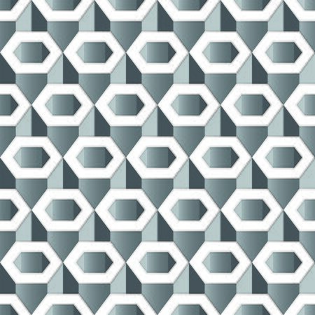 wallpaper  eps 10: Silver Gray hexagon pattern seamless wallpaper EPS 10 vector illustration