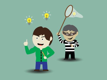 plunder: Stolen idea Illustration