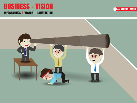 Businessman accelerate business vision