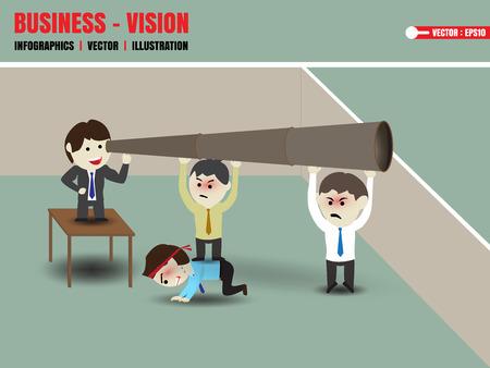 Businessman accelerate business vision
