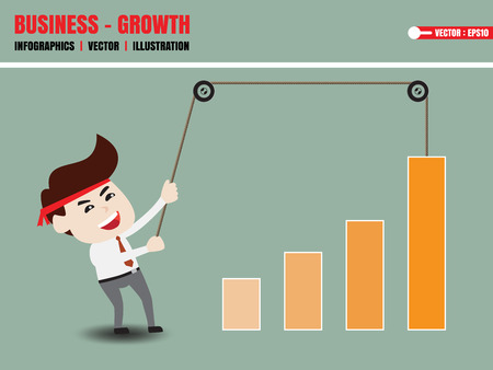 accelerate: Businessman accelerate business growth