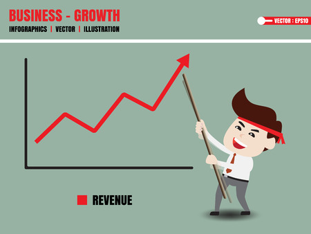 supposition: Businessman accelerate business growth