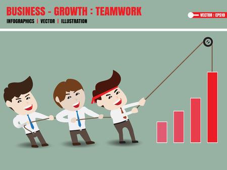 exert: Businessman accelerate business growth