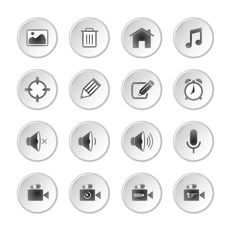 home video camera: Modern social media buttons
