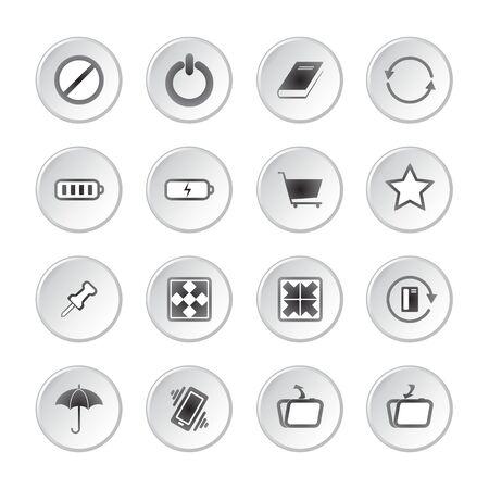 media buttons: Modern social media buttons