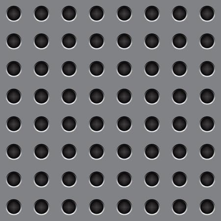 speaker grille pattern: Pattern steel gray round hole Background Illustration